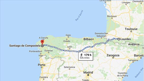 Camino Map small